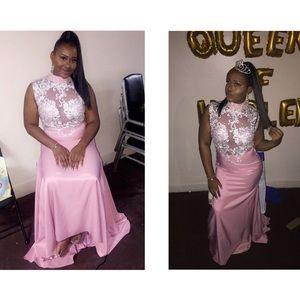 Dresses & Skirts - Pink and crystal choker dress
